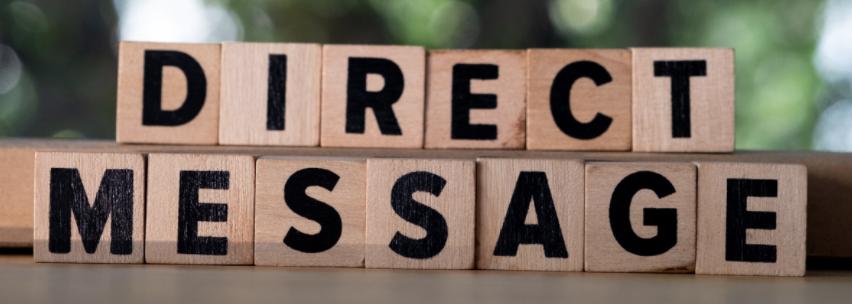 Direct Message Scrabble Pieces